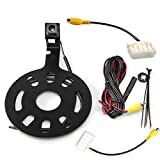 RED WOLF Spare Tire Rear View Backup Camera for Jeep Wrangler 2007-2018 Truck Reverse View Camera Waterproof with Factory Radio RCA Uconect Plug Adapter