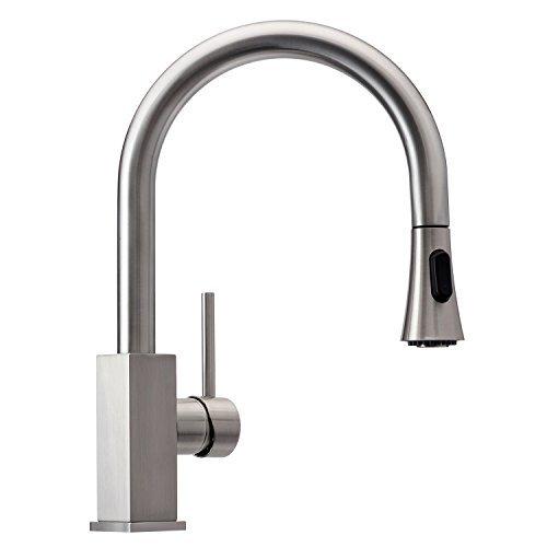 Wasserrhythm Stainless Steel Kitchen Sink Faucet with Pull...