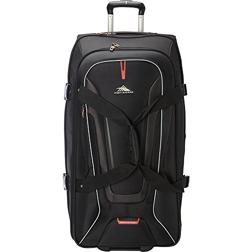 High Sierra AT7 Upright Wheeled Rolling Duffel Bag, Black,...