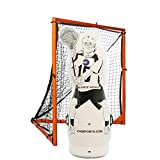 Junior Size Inflatable Lacrosse Goalie Shot Blocker and Dodging Dummy - Dodge and Shoot from Any Angle with this New Lacrosse Goal Target Training Aid w/ Pump for Boys and Girls Lax Training Equipment