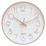 Foxtop Horloge Murale sans tic-tac, Moderne, Silencieuse, Quartz Ronde...