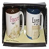 Starbucks Espresso Set Demitasse Lyon Frankreich/France Kaffee Espresso Tasse