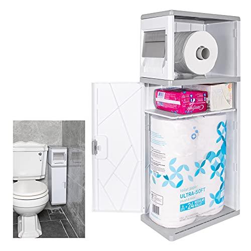 FESODR Toilet Paper Storage, Bathroom Storage Cabinet, Waterproof...