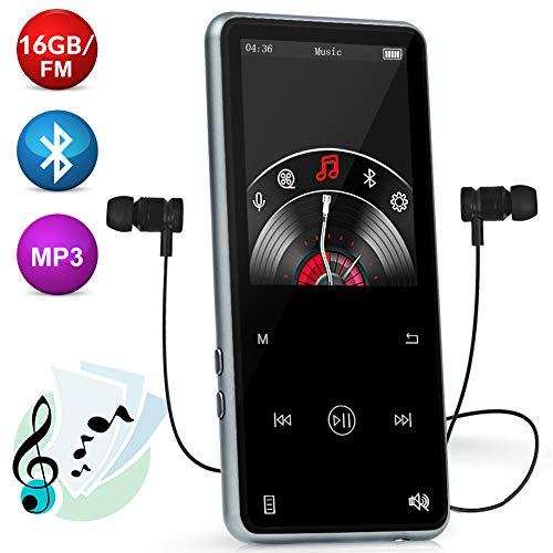 ieleacc 16GB 2018 MP3-Player Bluetooh,Bluetooth 4.1 mit Lautsprecher,MP3 Music Player mit Kopfhörer 2.4''HD LCD Display, Lossless Sound Musik-Player, Unterstützt FM Radio, Diktiergerät
