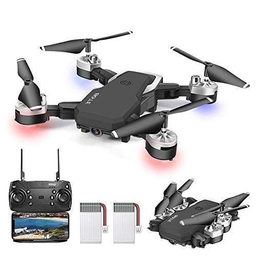 OBEST Drone Pieghevole, Videocamera HD 1080P da 5 Megapixel, Aereo WiFi FPV con Telecomando, quadricoptero con 3 modalit di velocit, modalit Senza Testa, Foto gestuale, Ritorno con Un Pulsante
