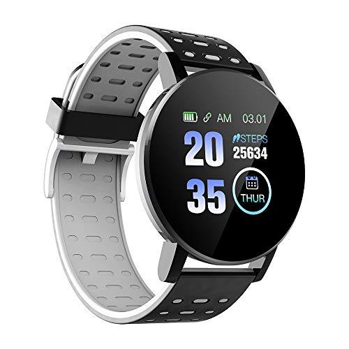 Tickas 119plus 1.3in Intelligente Uhren Herzfrequenz-Überwachungsuhr Sportuhren Armband wasserdichte intelligente Anruferinnerung, Schritte, Kalorien, Schlaf Überwachung Smartwatch