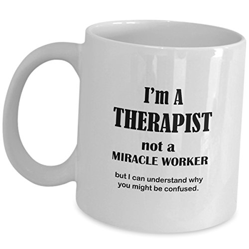 Im A Therapist Not A Miracle Worker Mug Funny Saying - Cute...