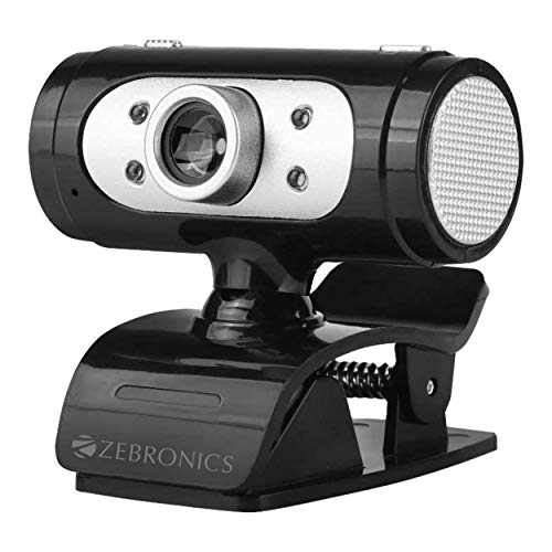 Zebronics Zeb-Ultimate Pro (Full HD) 1080p/30fps Webcam with 5P Lens, Built-in Mic, Auto White...