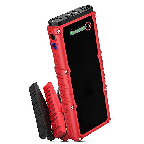 Car Jump Starter, 800A Peak 18000mAh 12V Auto Battery Booster(Up to 7.0L Gas or 4.5L Diesel Engine) Portable Power Pack, Built-in LED Flashlight with Car Jumper Cables Heavy Duty