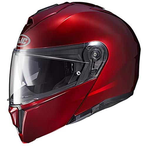 HJC Unisex-Adult Flip-Up Helmet (Wine, Large)