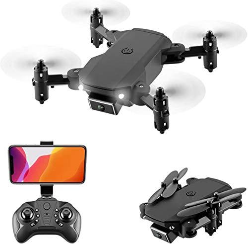 Mnjin Drone 4K Dual Camera, WiFi FPV Live Video RC Quadcopter per Bambini Adulti, Foto gestuale, Controllo del Telefono, 3D Roll, modalit Senza Testa, con 2 batterie, Custodia