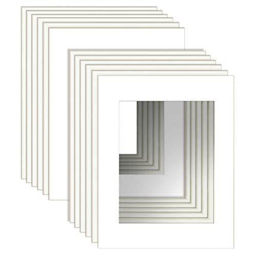 UMI. Essentials 12er Set Passepartout Weiß für Bilder im Format 13x18cm