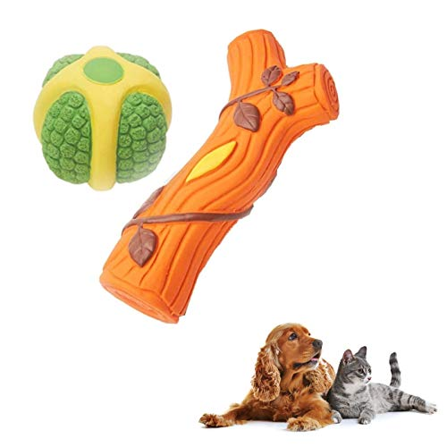 Kiki n Pooch Puppy Toys Combo Cute Squeaky Toys Chew Toys Rope Toys (Color May Vary)