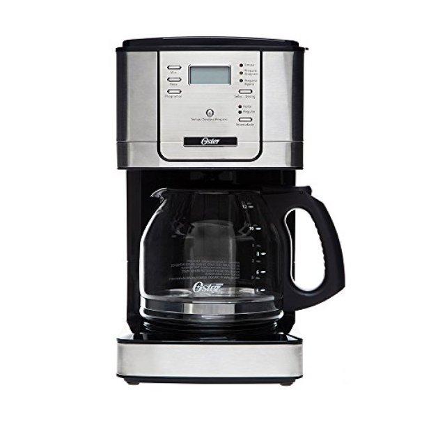 Programmable Flavor Coffee Maker, Black, 220v, Oster