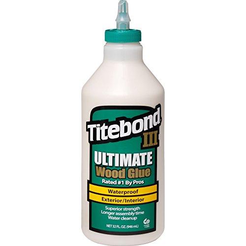 Titebond 1415 III Ultimate pegamento para madera, botella de 32 onzas, bronceado, 1 cuarto