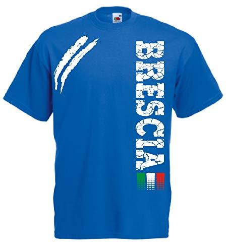 Generico t-Shirt Brescia Tifosi Ultras Calcio Sport dalla S alla 3XL e Taglie per Bambini(M, Azzurro Royal)