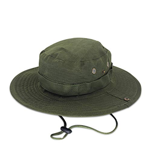 DORRISO Chapeau de Soleil Homme Femme Pliable Anti UV Outdoor Bucket Hat...