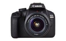 """Canon EOS 4000D - Cámara réflex de 18 MP (CMOS, APS-C, Escena inteligente automática, 9 puntos AF, filtros creativos, EOS Movie, Full HD LCD 2.7"""", WiFi/NFC) negro - Kit con objetivo EF-S 18-55mm III"""