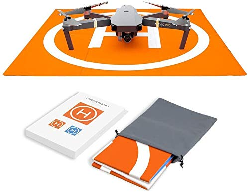 Hensych Tappetino da atterraggio per Drone radiocomandato, Impermeabile, Portatile, Pieghevole, per Mavic Air/Air 2S/Mavic PRO/Spark/Mavic Mini /Mini 2, con Borsa per Il Trasporto, Design a Due Lati