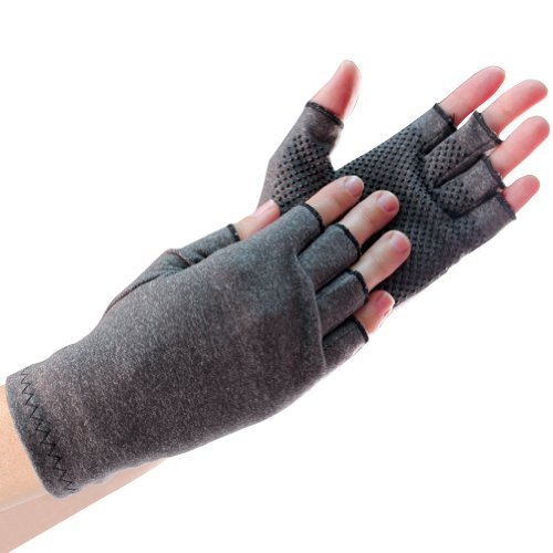 Ladies Compression Gloves w/ Grips Ease Arthritis Pain & Promote Circulation