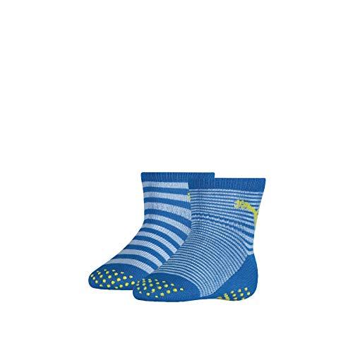 PUMA ABS Baby Socks (2 Pack) Calzini, Blue Green Combo, 23-26 Unisex-Bimbi