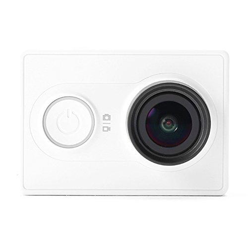 XiaoMi Yi アクションカメラ 軽量 XiaoYi スポーツ カメラ 16MP H.264 Xiaomi Camera HD 1080P 155度 超広角 小型 Action Camera スマホ用 ホワイト 並行輸入品