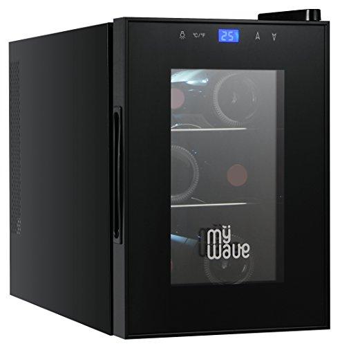 MyWave MWWT 6B- Cantinetta per 6 bottiglie verticali, capacit di 20 litri, raffreddamento termoelettrico, colore nero