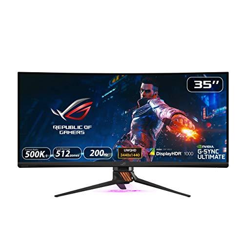 "ASUS ROG PG35VQ - Ecran PC gaming eSport 35"" UWQHD - Dalle VA incurvée - 21:9 - 200Hz - 3440x1440 - 1000cd/m² - Display Port, HDMI et2x USB3.0 - Nvidia G-Sync Ultimate - AuraSync - Display HDR 1000"