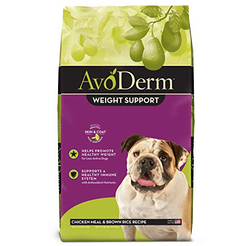 AvoDerm Natural Weight Management Dry Dog Food, Reduced Fat and Low Calorie, Brown Rice & Chicken Formula