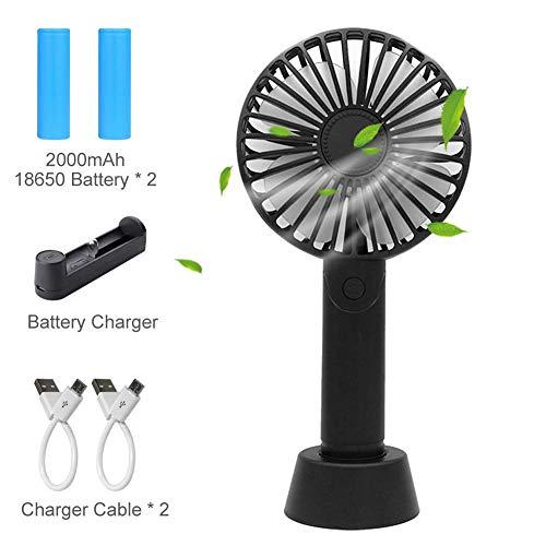 Mini Ventilatore USB Portatile - Silenzioso Aromatherapy Ventilatore con 2x 2000mAh Batteria...