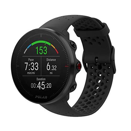 Polar Vantage M, Sportwatch per Allenamenti Multisport, Corsa e Nuoto, Impermeabile con GPS e Cardiofrequenzimetro Integrato, 46 mm, Unisex Adulto, Nero, S/M
