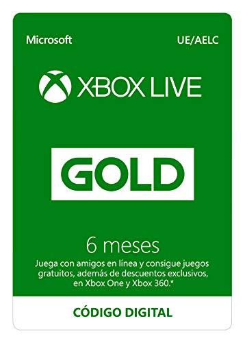 Microsoft Suscripción Xbox Live Gold - 6 Meses | Xbox Live -...