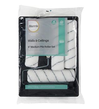 Harris 102012009 Seriously Good Walls & Ceilings 4 Set 9in, Tray, 1 x 9 Frame, 4 x 9 Medium Pile Roller Sleeves