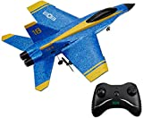 Mini RC Airplane Raptor Model, F22 F-22 F16 Fighting Falcon Su-35 F/A-18C Blue Angels Radio Control Remoto Jet Fighter Juguetes para niños Principiante RC Planeador
