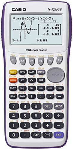 Casio fx-9750GII Graphing Calculator with icon based menu....