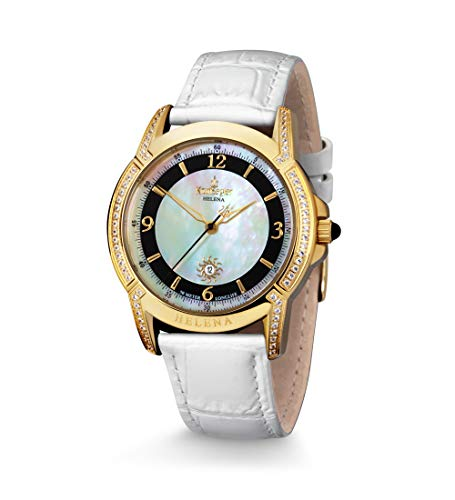 Kronsegler Helena Damenuhr vergold Gold-Weiss - 10 Jahre Batterielaufzeit*