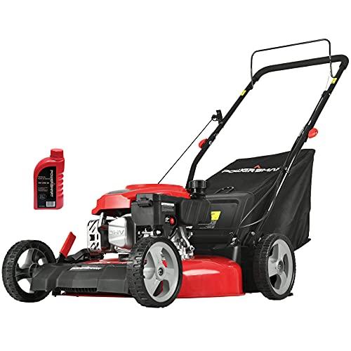 PowerSmart Push Lawn Mower Gas Powered - 21 Inch, 3-in-1 Gas...