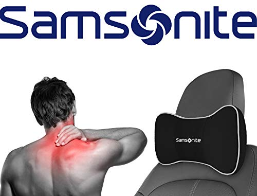Samsonite SA5248 \ Travel Pillow for Car, SUV \ Helps Relieve Neck Pain & Improve Circulation \100% Pure Memory Foam \ Fits Most Vehicles