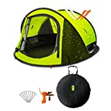 Zenph Pop Up Tent, Automatic 2-3 Persons Family Camping Tent, 3 Seconds Automatic Opening Waterproof Sun Shelter Automatic Instant Tents for Outdoor Hiking