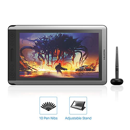 2019 Huion Kamvas 16 Drawing Tablet with Screen 15.6inch Digital Graphics Pen Display Monitor with Battery-Free Stylus 8192 Pressure Sensitivity Tilt 14 Express Keys Touch Bar-Stand Included