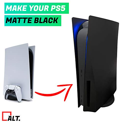 Black PS5 (DISC Playstation 5) Faceplates cover side plates shell case skin - Premium Replacement...