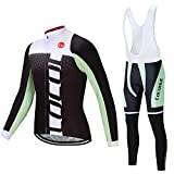 Coconut Ropamo Men's Cycling Jersey Suit Long Sleeve Road Bike Jersey Cycling Sets Tights with Padded
