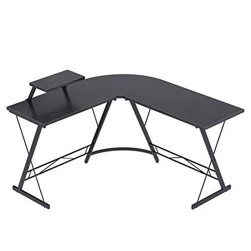 Casaottima L Shaped Desk, 51' Home Office Desk with Round Corner...