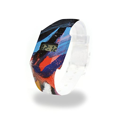 ROME - Pappwatch - Paperlike Watch - Digitale Armbanduhr im trendigen Design - aus absolut reissfestem und wasserabweisenden Tyvek® - Made in Germany, absolut reißfest und wasserabweisend