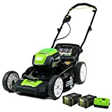 Greenworks Pro 80V 21 inch Cordless Push Lawn Mower, Includes Two 2Ah Batteries and Charger, GLM801601