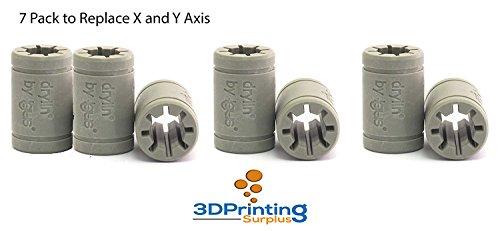 3D Printer Solid Polymer LM8UU Bearing 8mm shaft