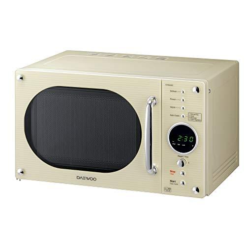 Daewoo Design Retro Forno a microonde, 23 Litri, Crema