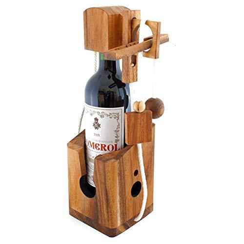 GOODS+GADGETS Dont Break The Bottle Flaschen Tresor Safe Geduldsspiel Magisches 3D Puzzle aus Holz...