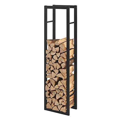 [en.casa] Kaminholzregal 40x150x25cm Brennholzregal Feuerholzregal Holzhalter