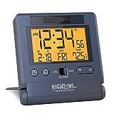 Marathon Atomic Travel Alarm Clock with Auto Back Light Feature, Calendar and Temperature. Folds...